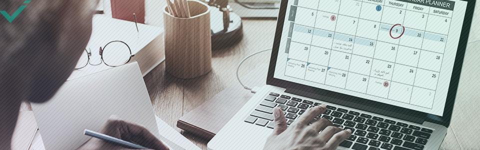 Calendario 2020 dettagliato del marketing sui social media.